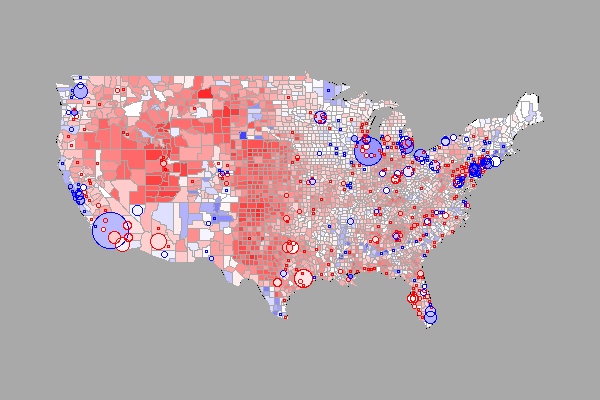 US 2004 Election Map in R